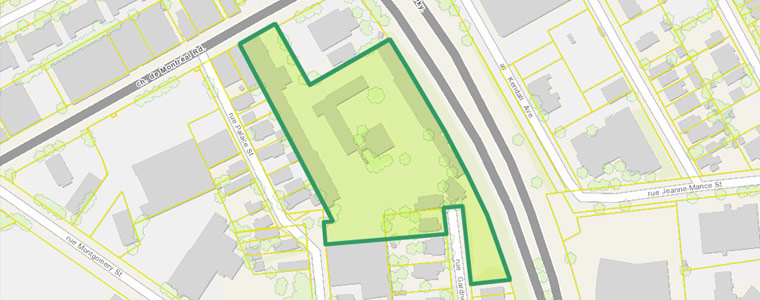 Map highlighting the location of 112 Montreal Road, Vanier